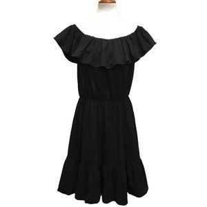 Asos Off Shoulder Ruffled Cotton Dress